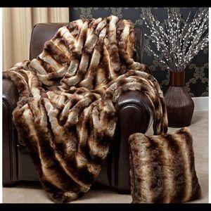"""Faux Fur Throw - Full Blanket 58""""W x 84""""L"""